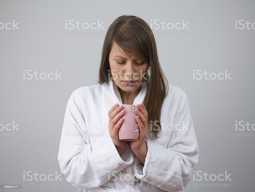 Inhalation and Cold stock photo