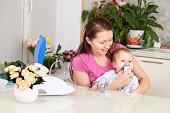 inhalation child makes baby mama