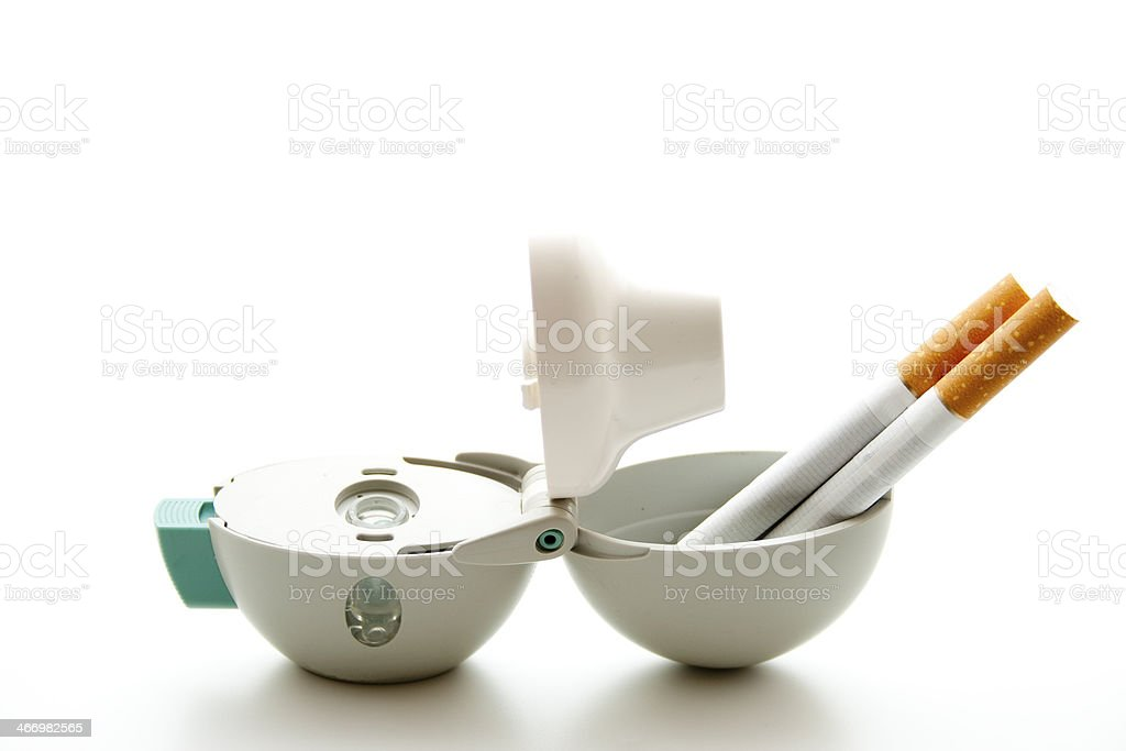 Inhaler for powder and with cigarets royalty-free stock photo