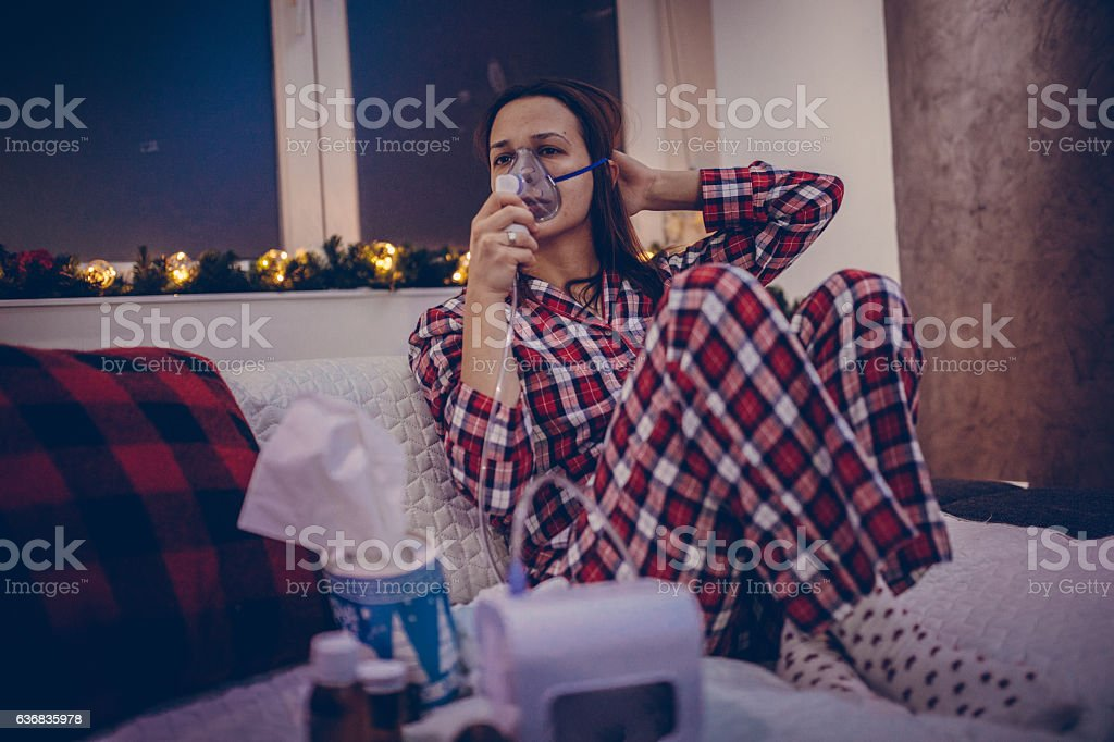 Inhaler helps a lot stock photo