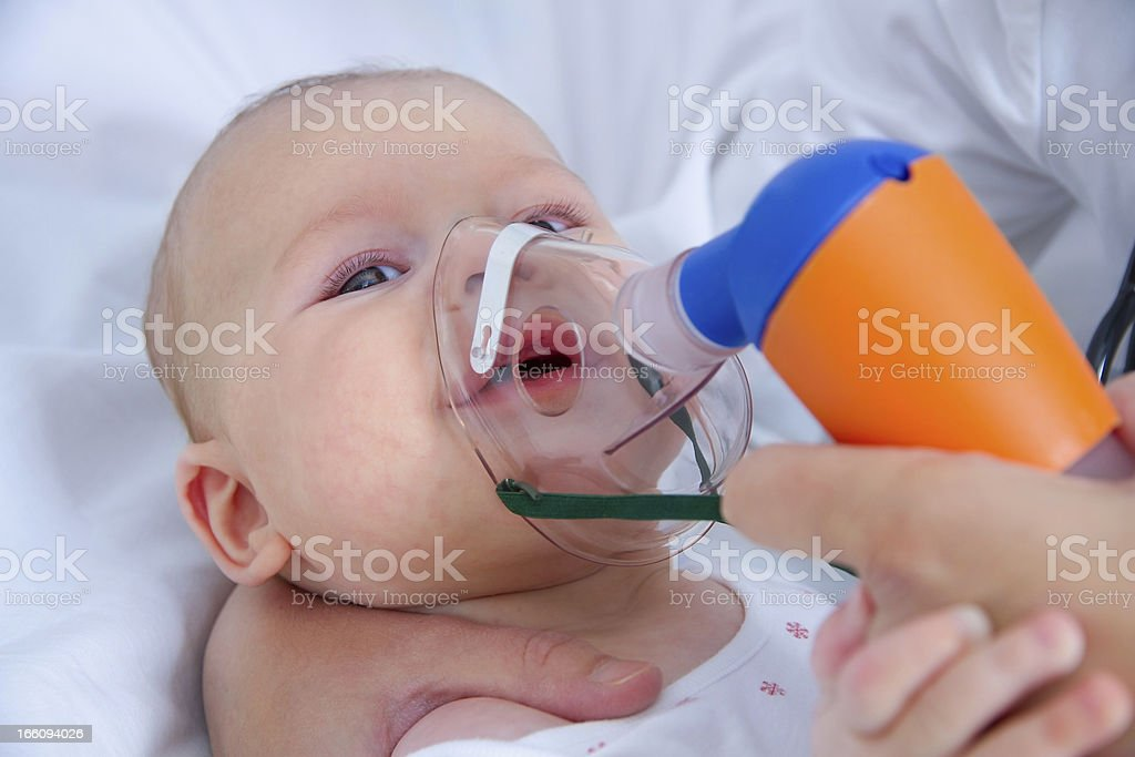 Inhaling royalty-free stock photo