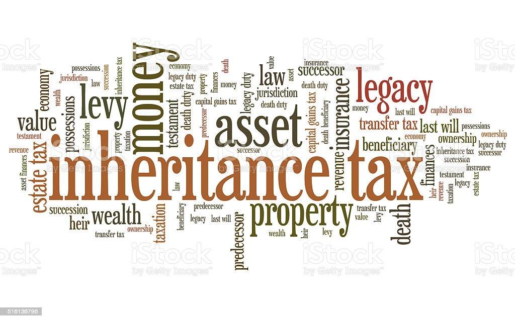 Inheritance tax stock photo