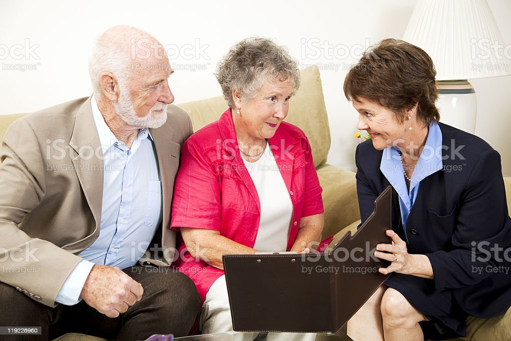 In-Home Sales Meeting royalty-free stock photo