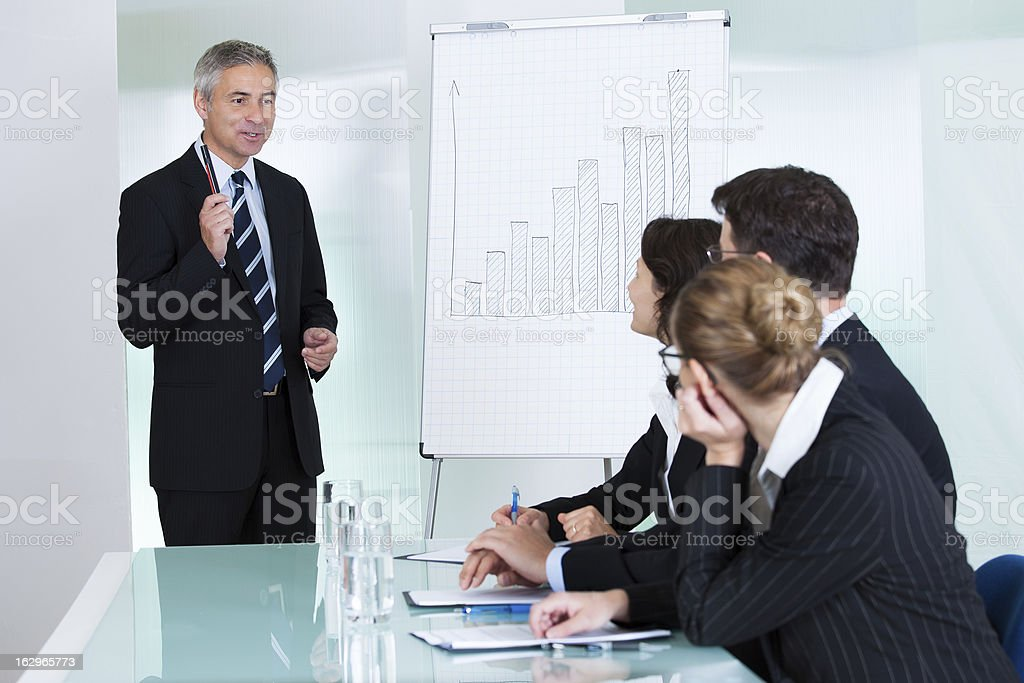 In-house business training royalty-free stock photo