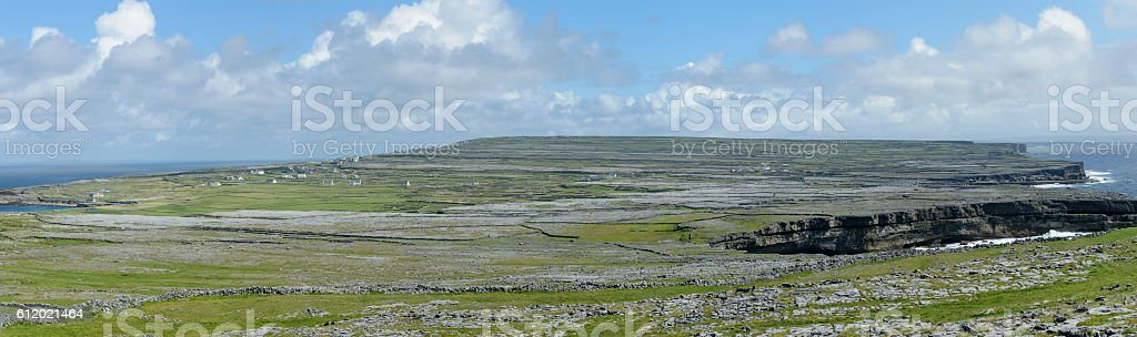 Inishmore panorama, Aran Islands, Ireland, Europe stock photo