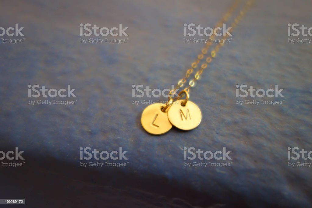 Initial necklace stock photo