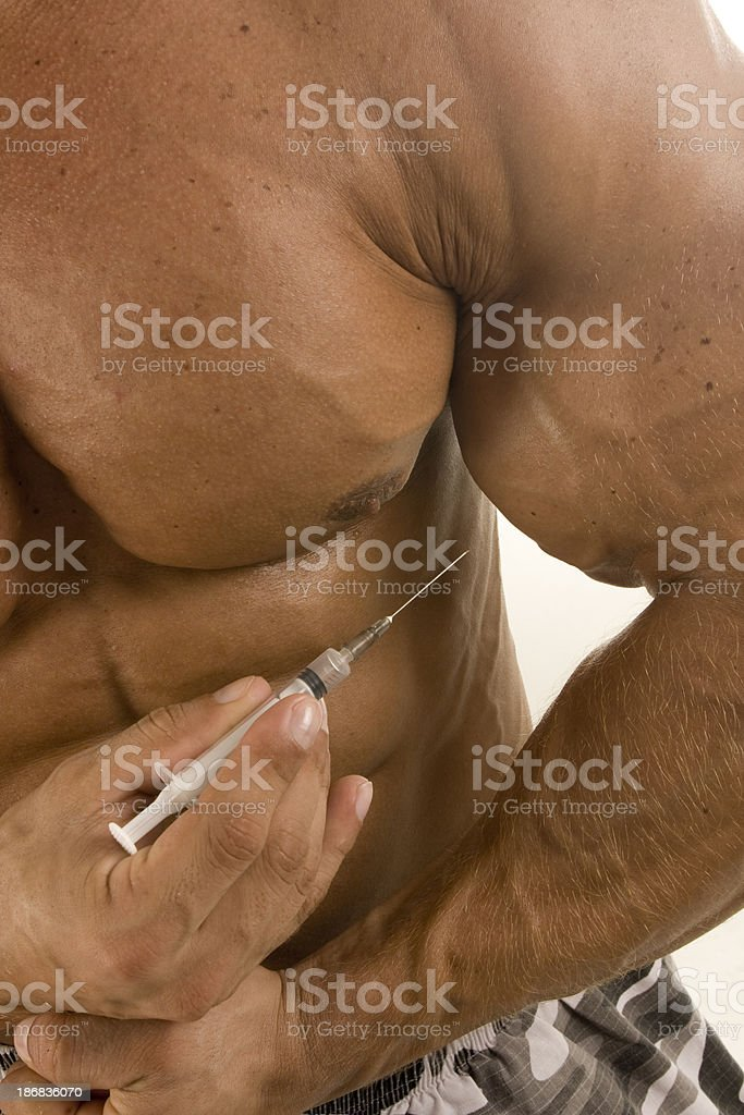 Injecting stock photo