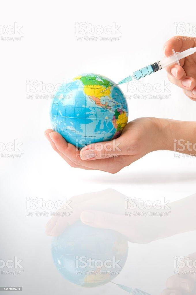 Injecting stock photo