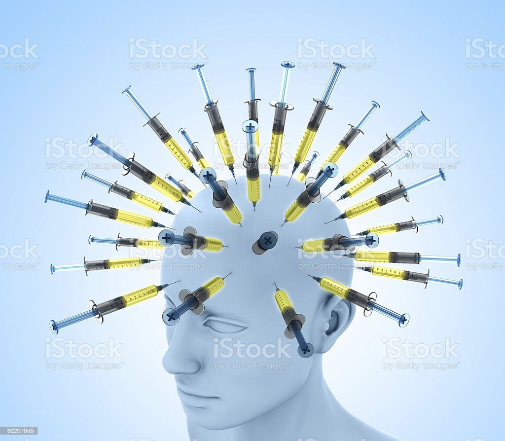 Injection Head royalty-free stock photo