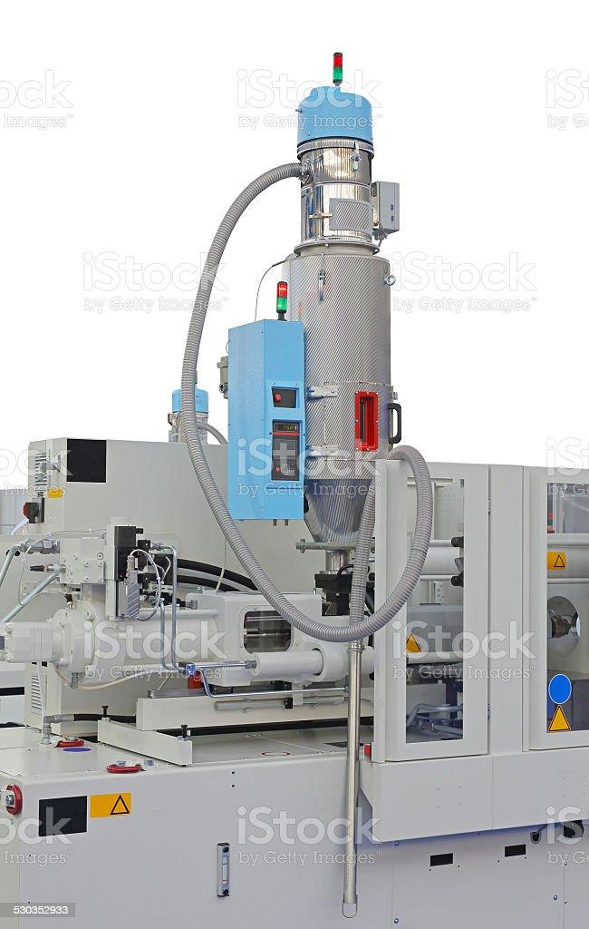 Injection molding machine stock photo