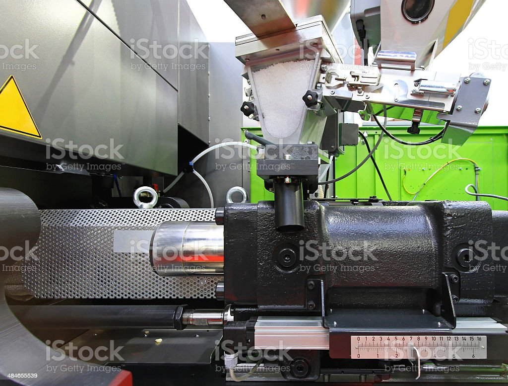 Injection moulding stock photo