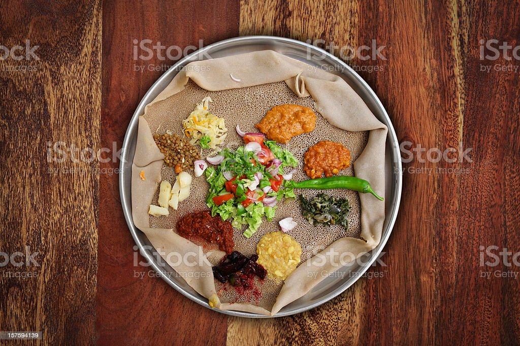 Injera Meal stock photo
