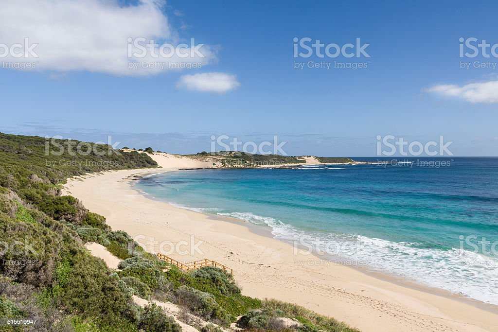 Injidup beach and point in Western Australia stock photo