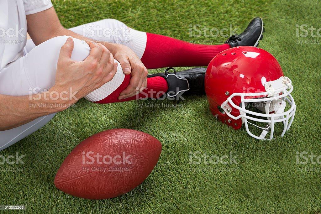 Injured American Football Player stock photo