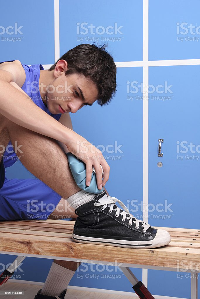 Injured Basketball Player stock photo
