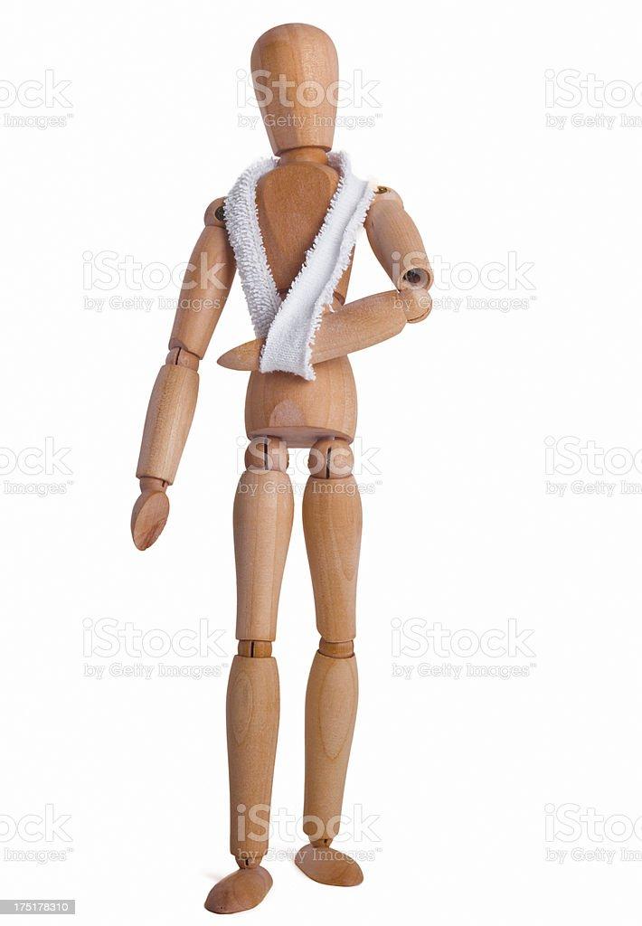 Injured dummy stock photo