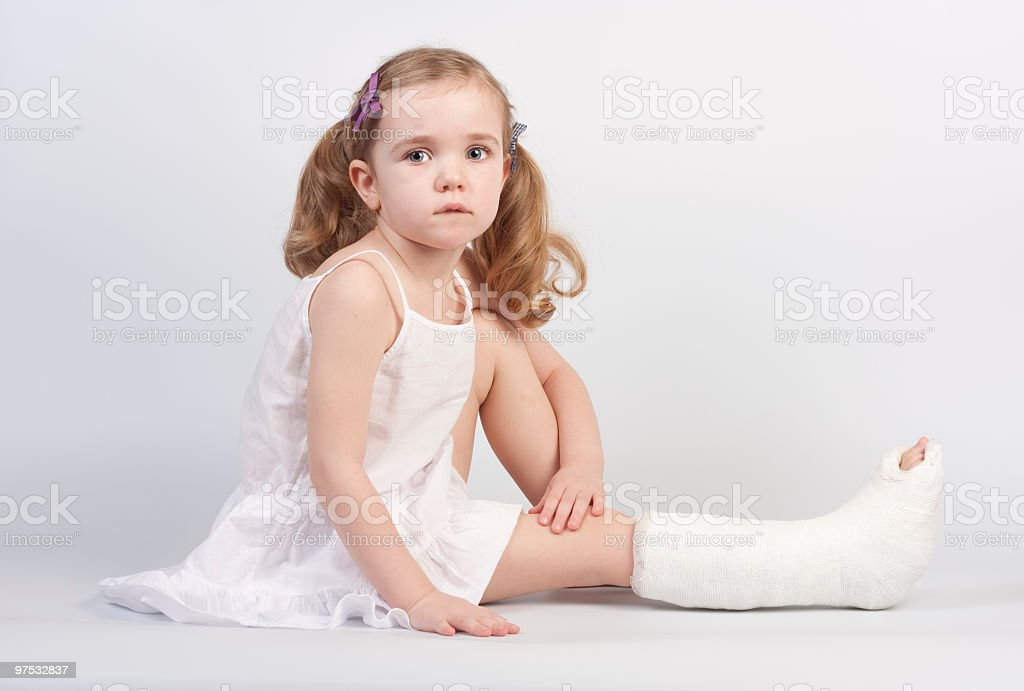 Injured girl royalty-free stock photo
