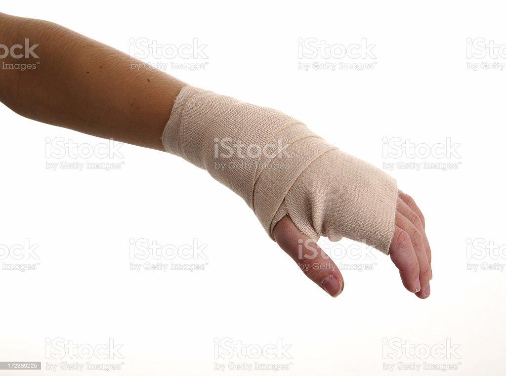 Injured hand royalty-free stock photo