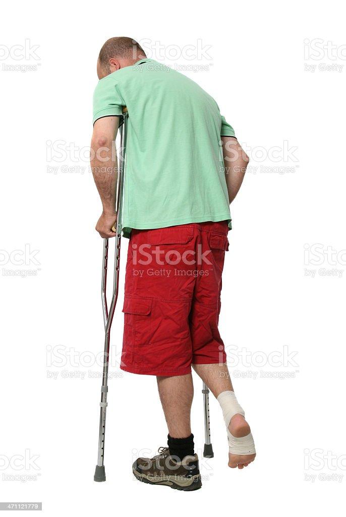 Injured man. stock photo