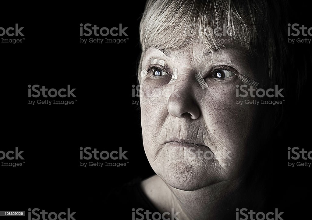 Injured Mature Woman royalty-free stock photo