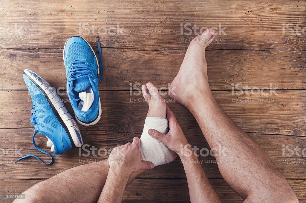 Injured runner stock photo