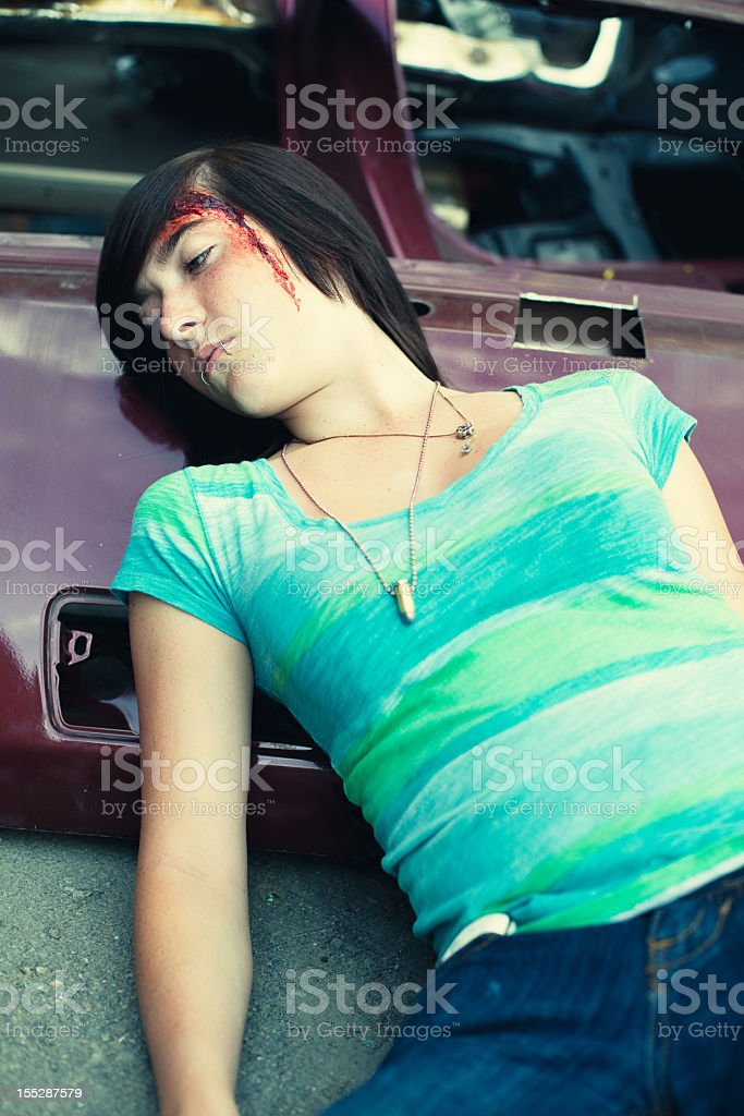 Injured Teenage Girl stock photo