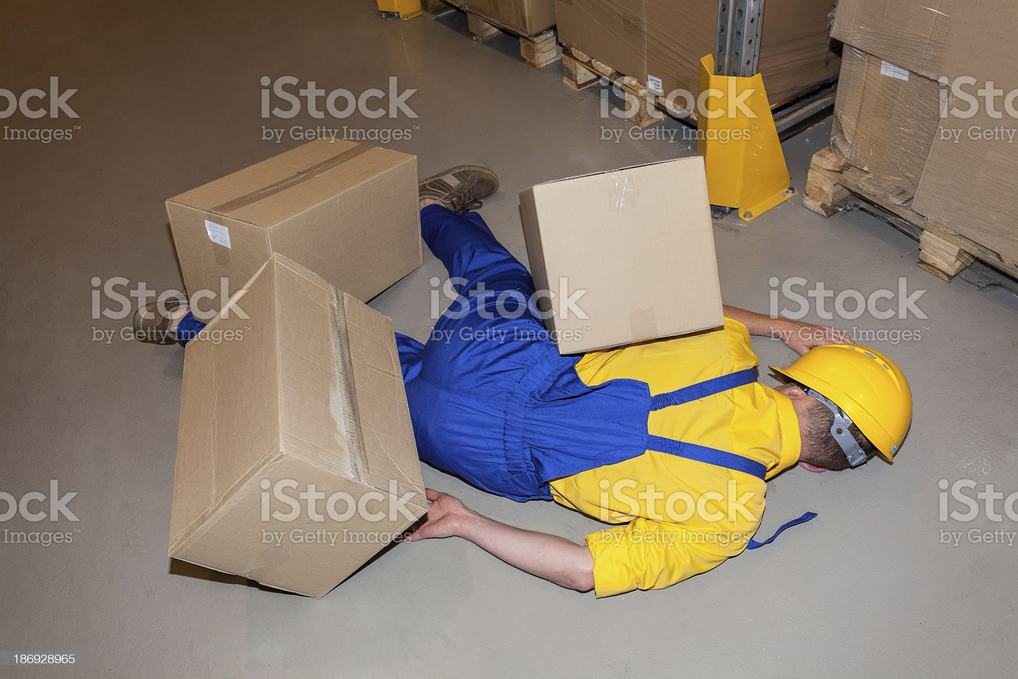 Injured worker royalty-free stock photo