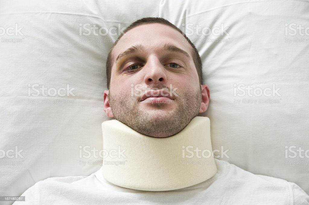 injured young man royalty-free stock photo