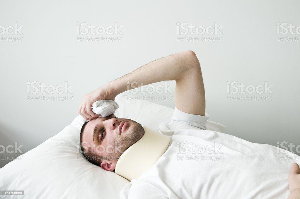 injured young man royalty-free stock photo
