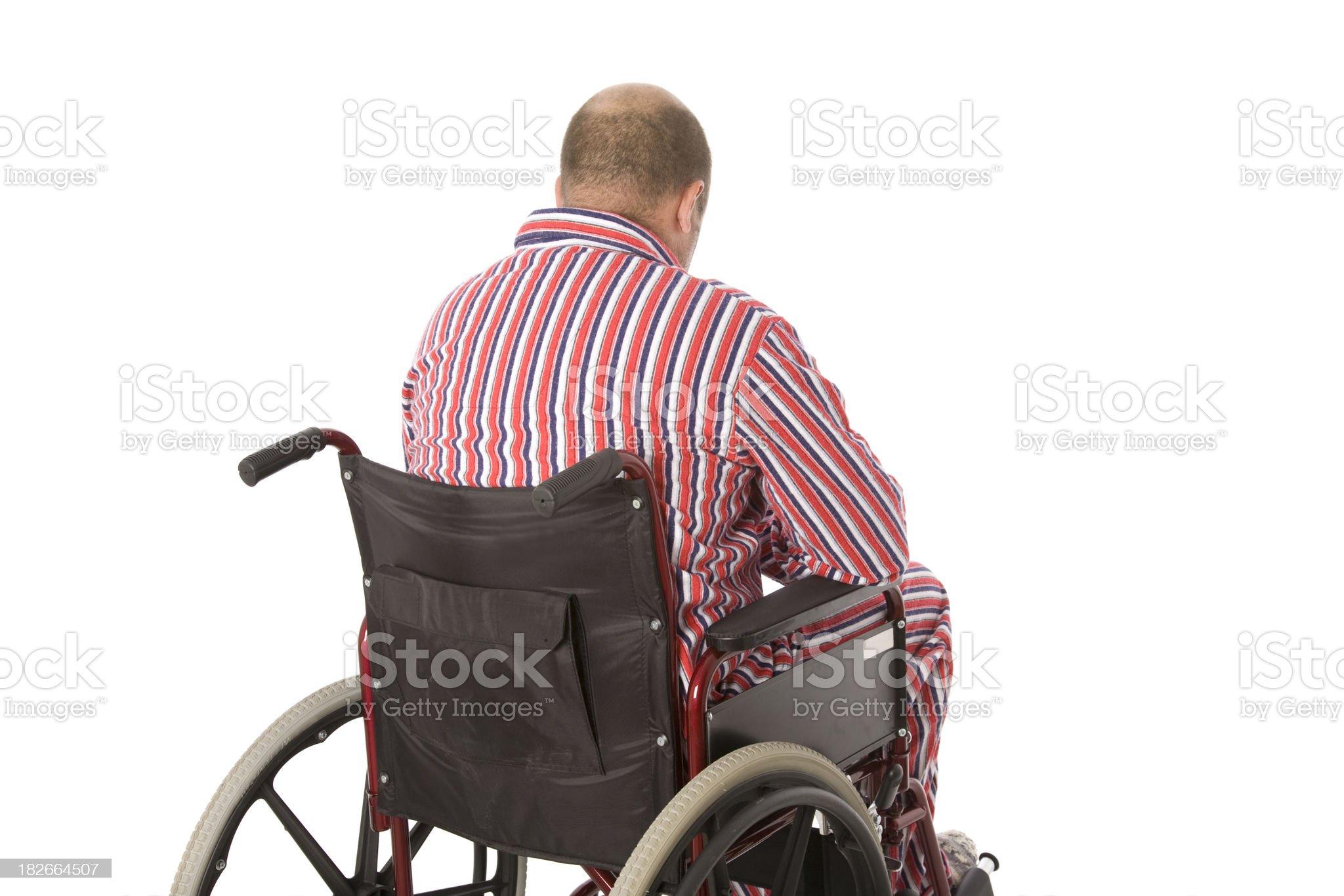 Injury Depression royalty-free stock photo