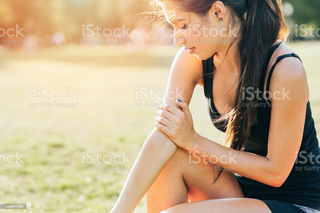 Injury during workout stock photo