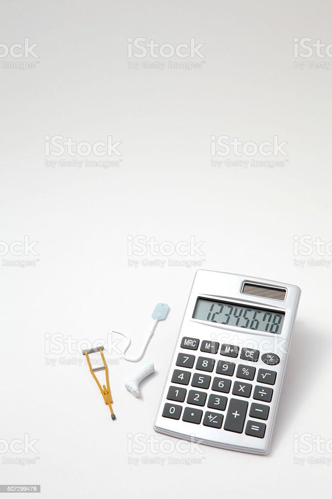 Injury, illness, medical, insurance stock photo