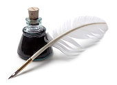 Ink and feather pen