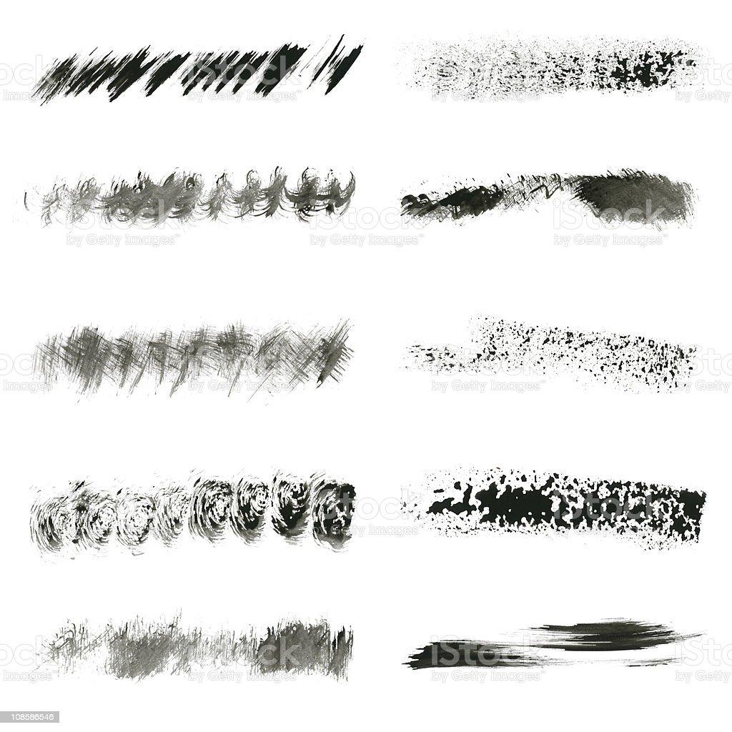 Ink brush set royalty-free stock photo