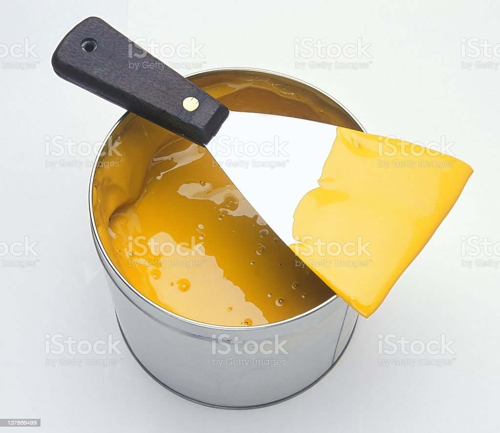 Ink can and knife. stock photo