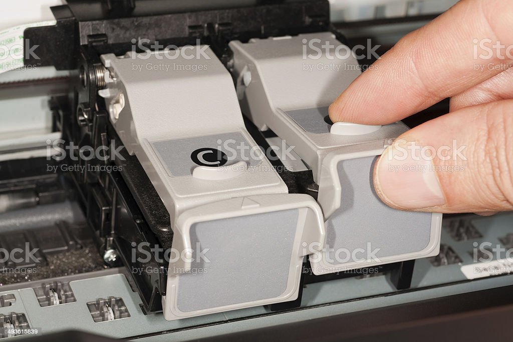 Ink Cartridge Replace stock photo