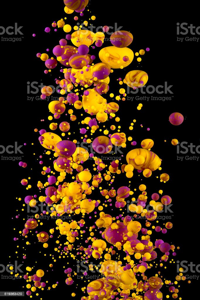 Ink color spash under water on black stock photo