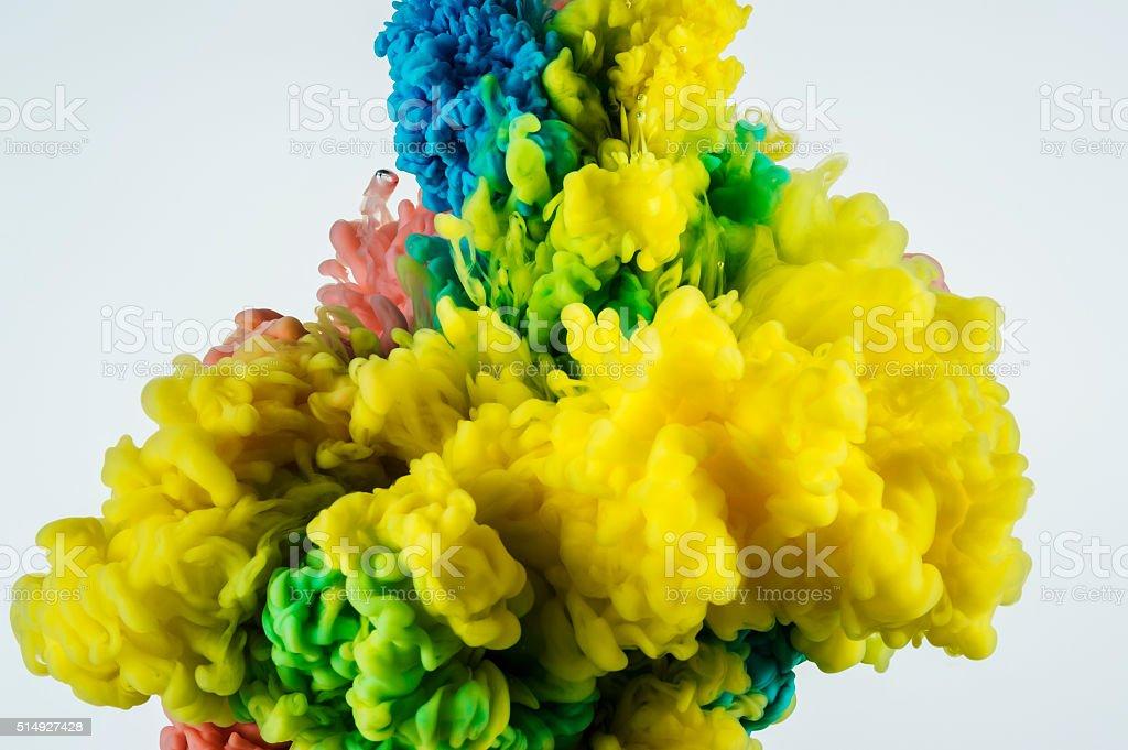 ink Color splash backgound stock photo