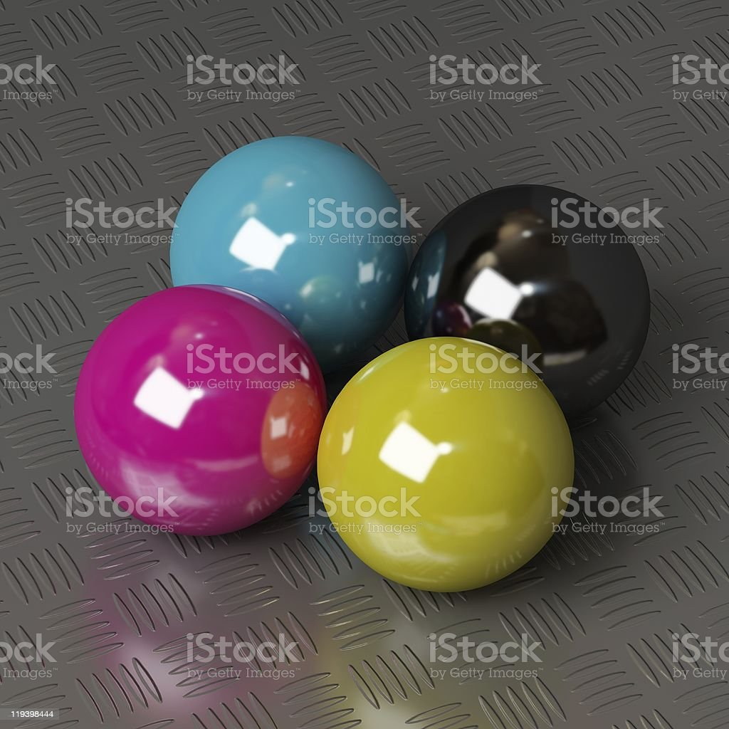 CMYK ink colors royalty-free stock vector art