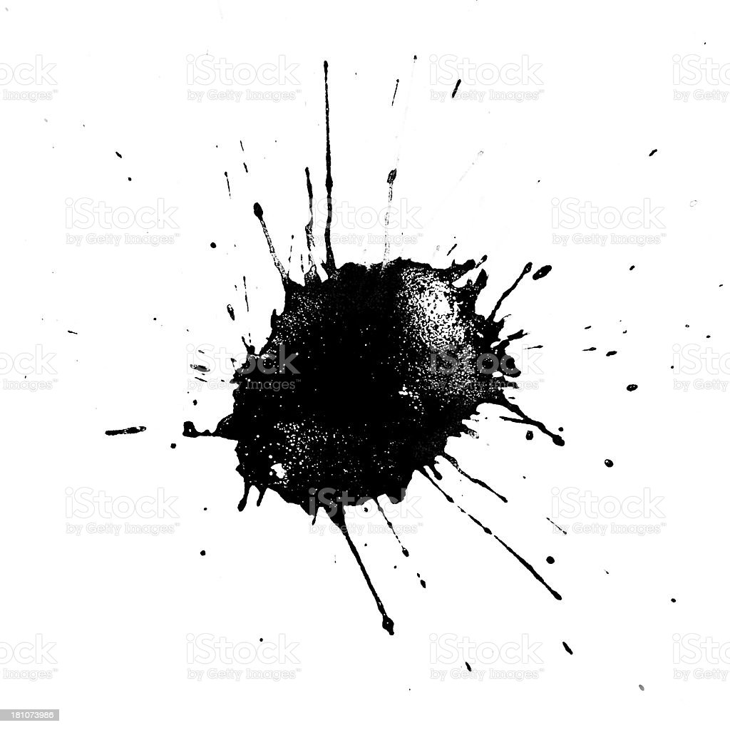Ink drop royalty-free stock photo