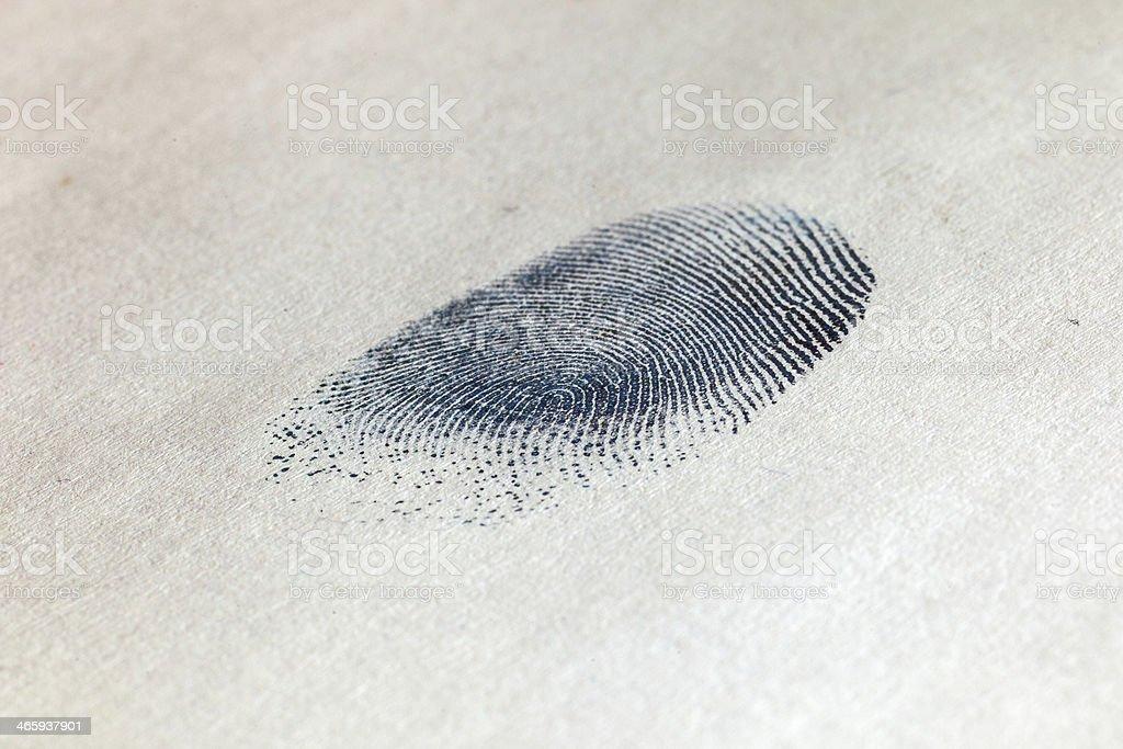 Ink Fingerprint on paper 01 stock photo