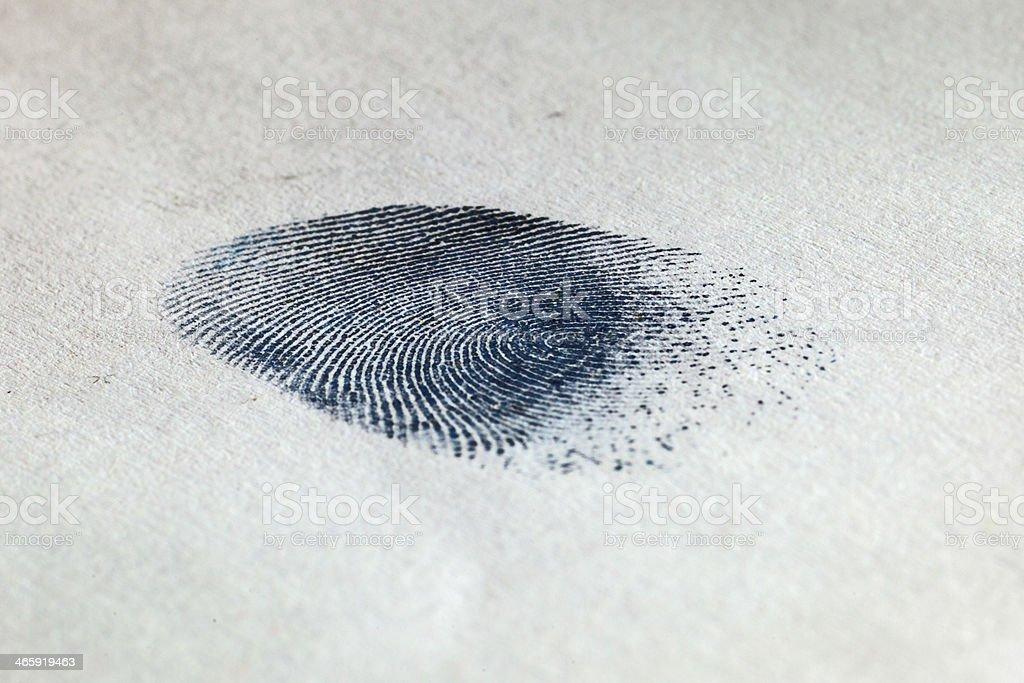 Ink Fingerprint on paper 02 stock photo
