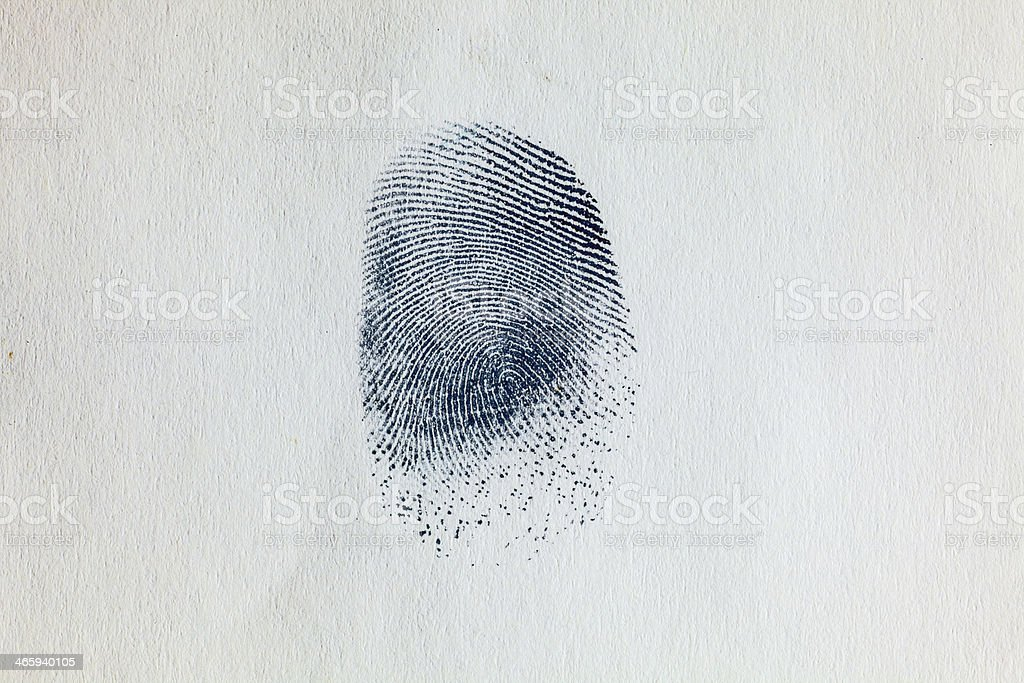 Ink Fingerprint on paper 03 stock photo