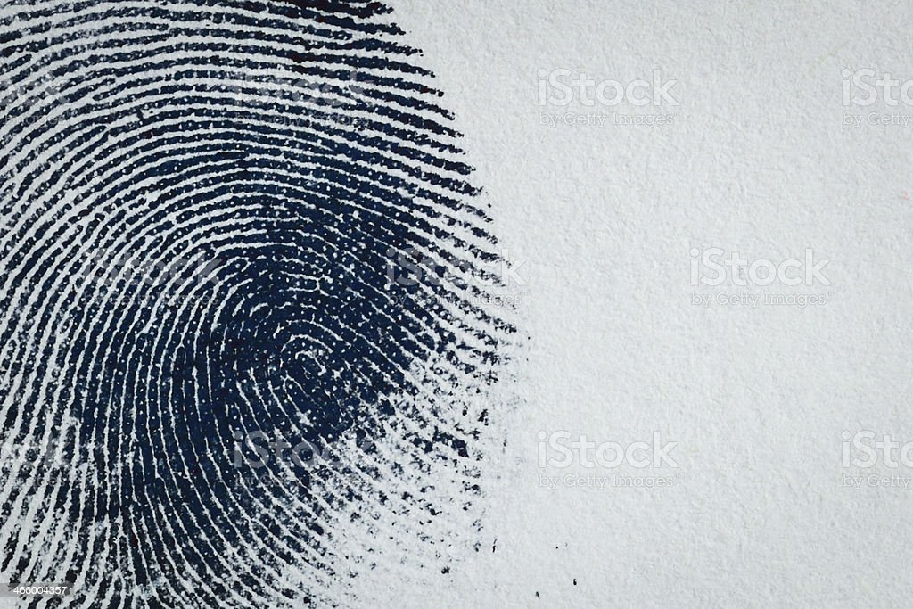 Ink Fingerprint on paper 05 stock photo
