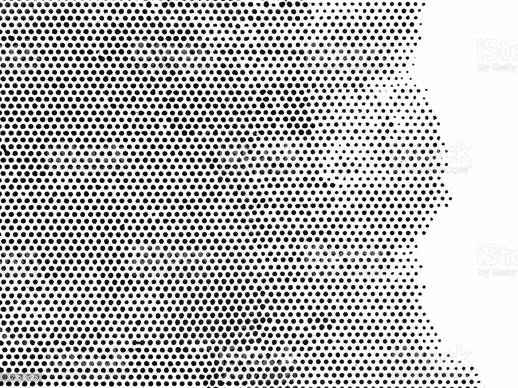 Ink Half Tone Dots stock photo