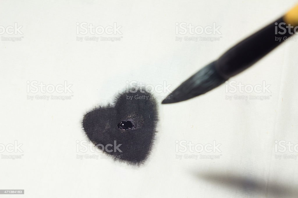 ink heart stock photo