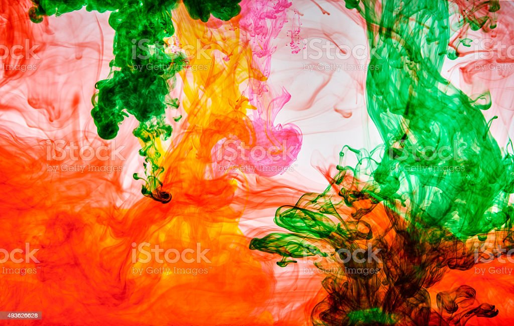 Ink In Water stock photo