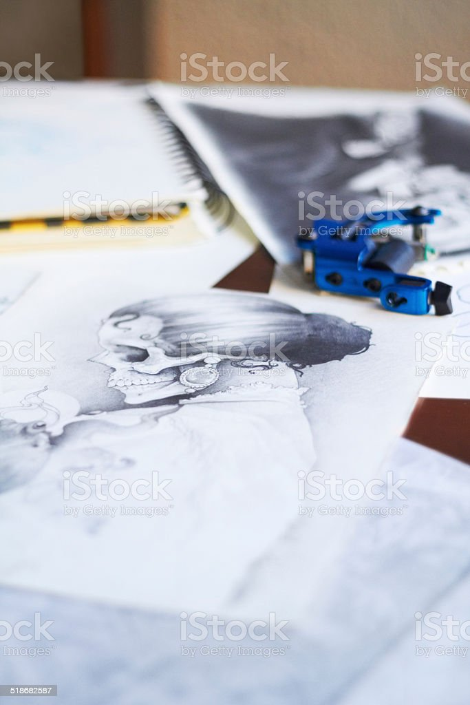Ink is art! stock photo