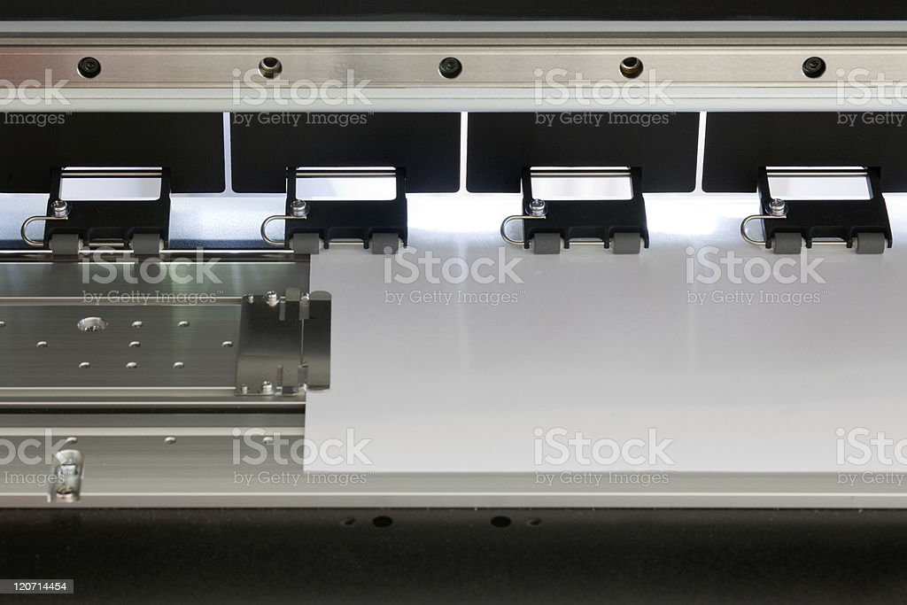 ink jet printer Detail stock photo