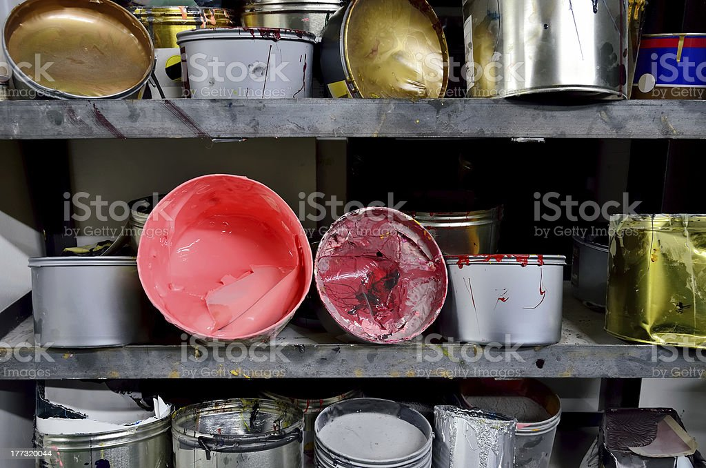 Ink on the shelves stock photo